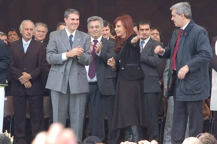 Feito, en un acto con la Presidenta de la Nación