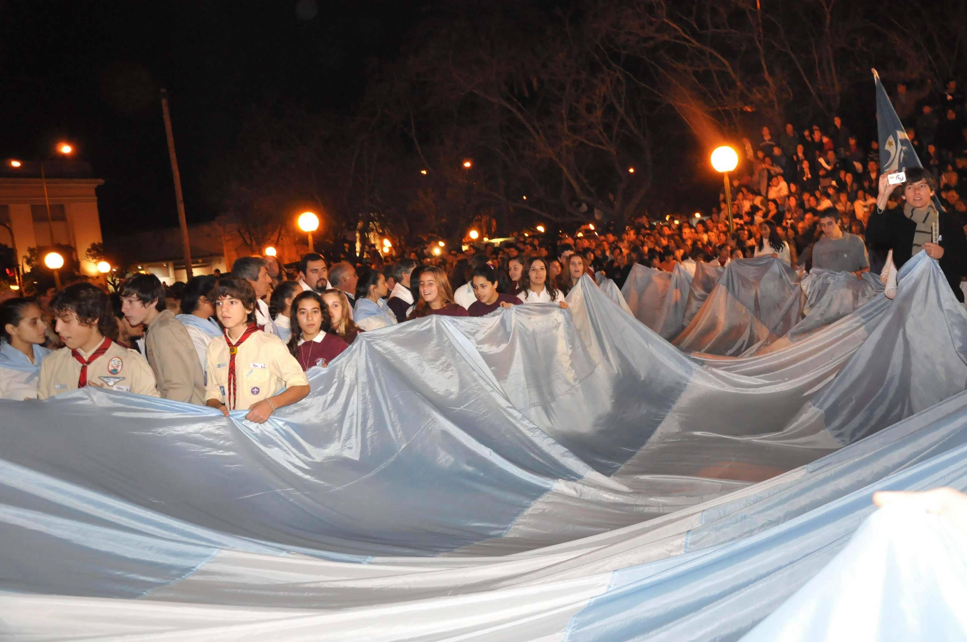 Una multitud en los festejos del Bicentenario