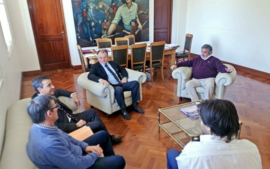 Fernández recibió a las nuevas autoridades de la sucursal local del BAPRO