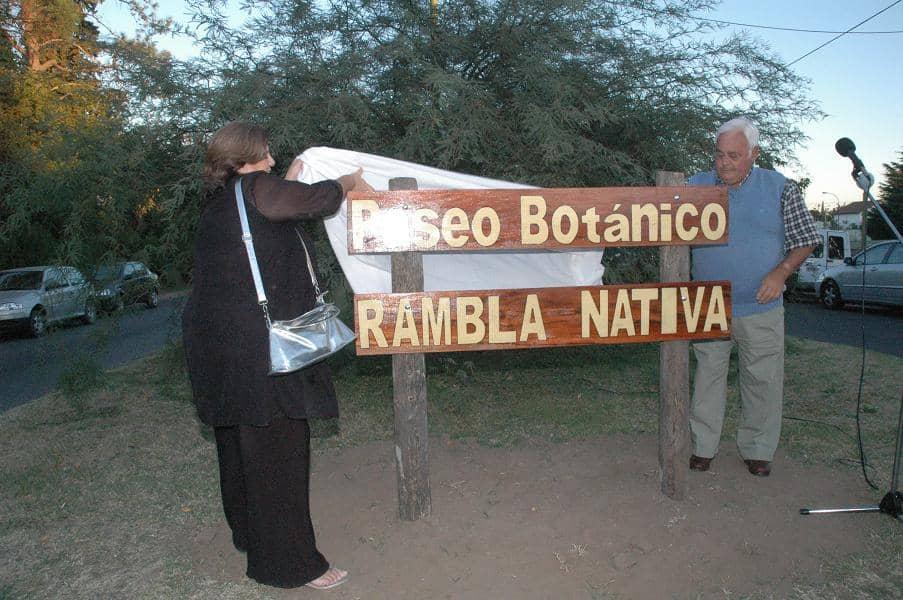 Inauguraron el Paseo Botánico Rambla Nativa
