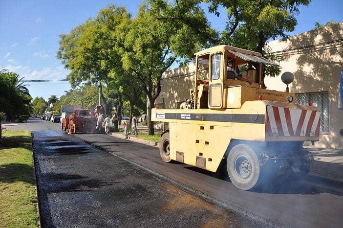 Comenzó la repavimentación de la calle San Martín