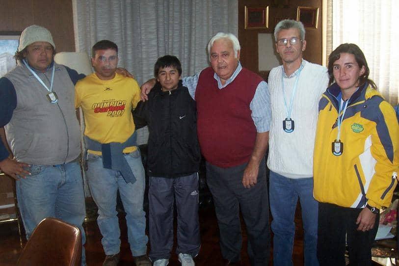 Barracchia recibió a atletas locales que compitieron en Rosario
