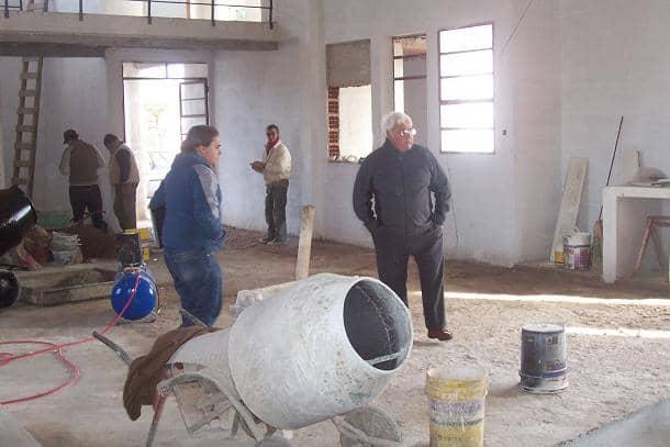 Barracchia recorrió obras que ejecuta la gestión