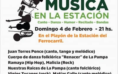 Este domingo se realiza la quinta noche de Música en la Estación