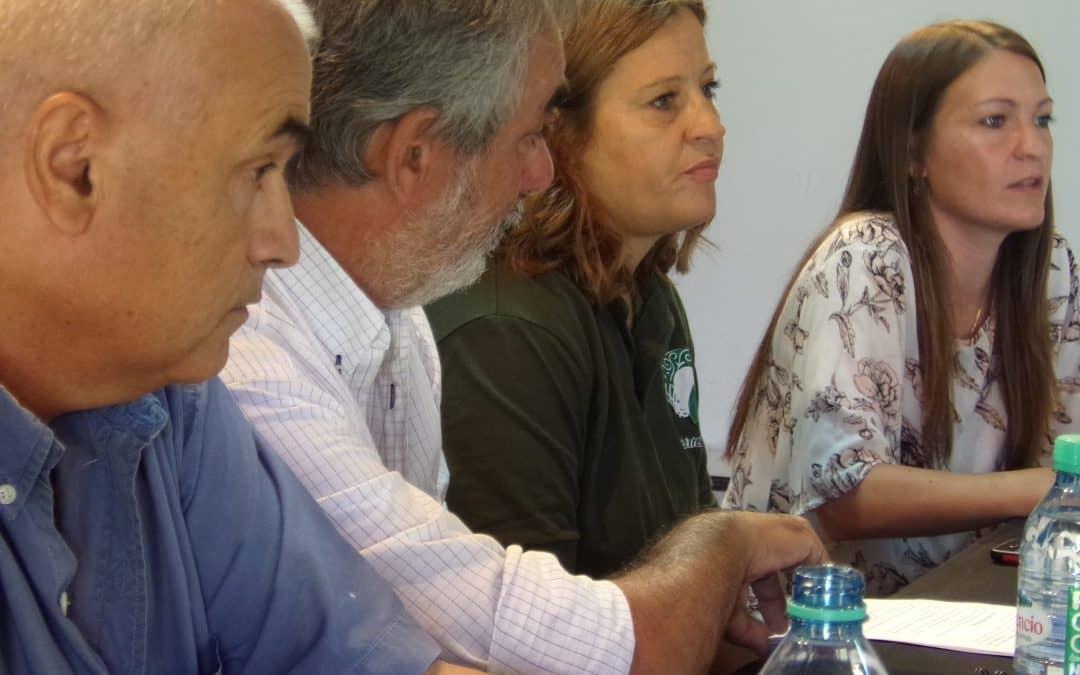 Fernández presentó a la titular de la Oficina de Ambiente de 30 de Agosto