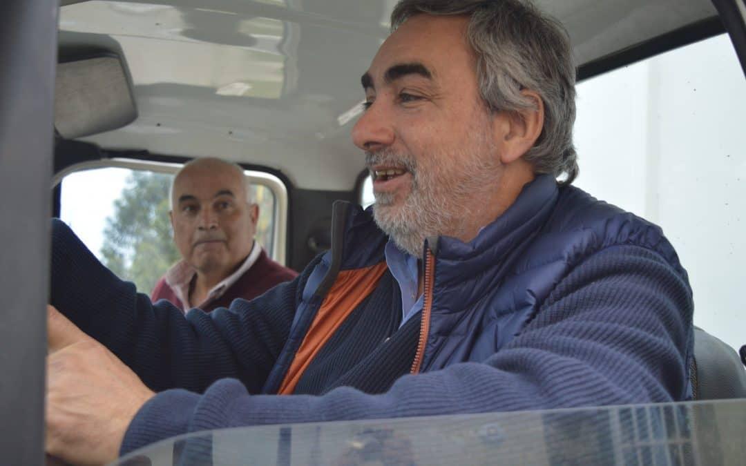Fernández y Zapata probaron el camión recolector destinado a 30 de Agosto