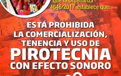 EL MUNICIPIO RECUERDA QUE ESTA PROHIBIDA LA VENTA Y EL USO DE PIROTECNIA SONORA EN EL DISTRITO