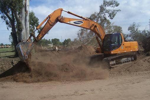 Quinta de Vargas: trabajos de desmonte