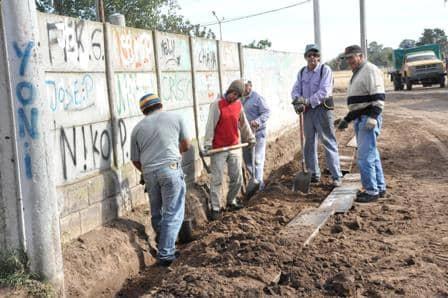 Avanzan las obras en Los Robles