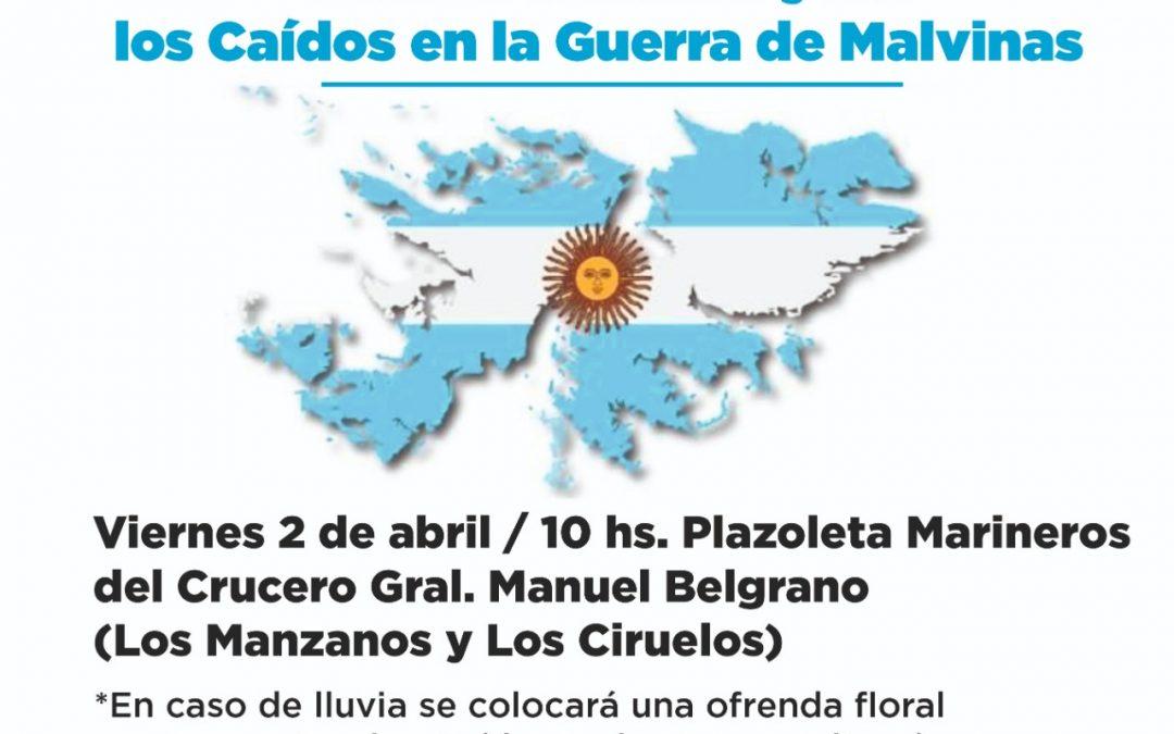 EL ACTO POR EL DÍA DEL VETERANO Y DE LOS CAÍDOS EN LA GUERRA DE MALVINAS SE HARÁ EL VIERNES EN LA PLAZOLETA MARINEROS DEL CRUCERO GENERAL BELGRANO