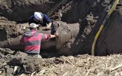 EL MUNICIPIO REALIZÓ TRABAJOS DE REPARACIÓN EN DOS TRAMOS DEL ACUEDUCTO DE MARI LAUQUEN