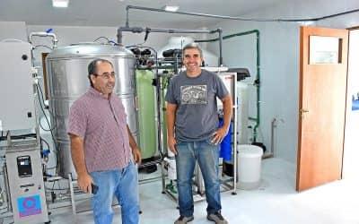 Berutti: con la nueva planta de ósmosis inversa se entregan 6 mil litros de agua por semana