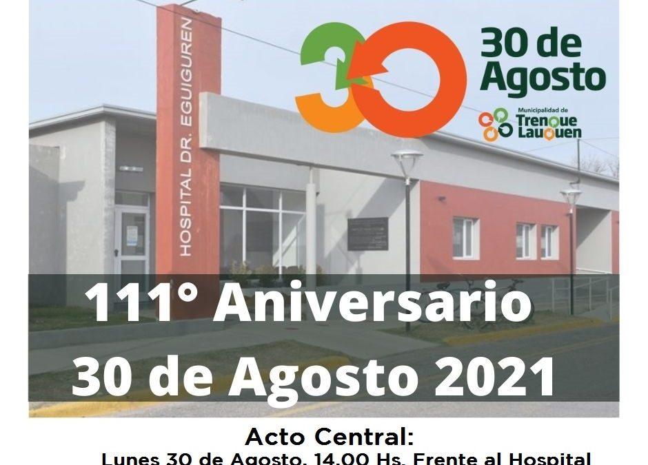 TREINTA DE AGOSTO: EL LUNES SE HACE EL ACTO CENTRAL POR SU 111º ANIVERSARIO