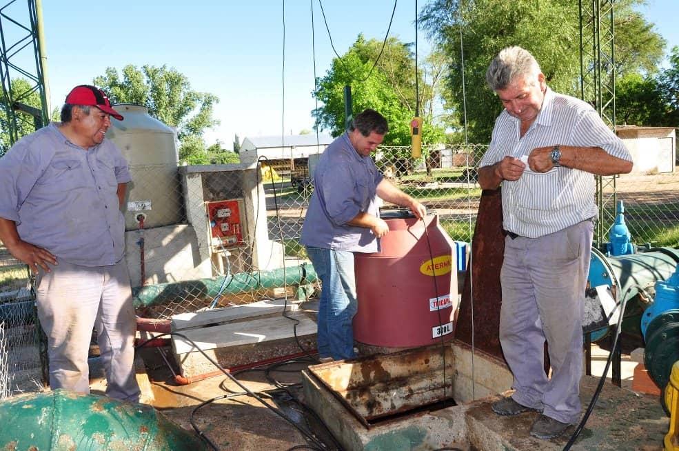 Servicios Sanitarios arregló una bomba de la cisterna