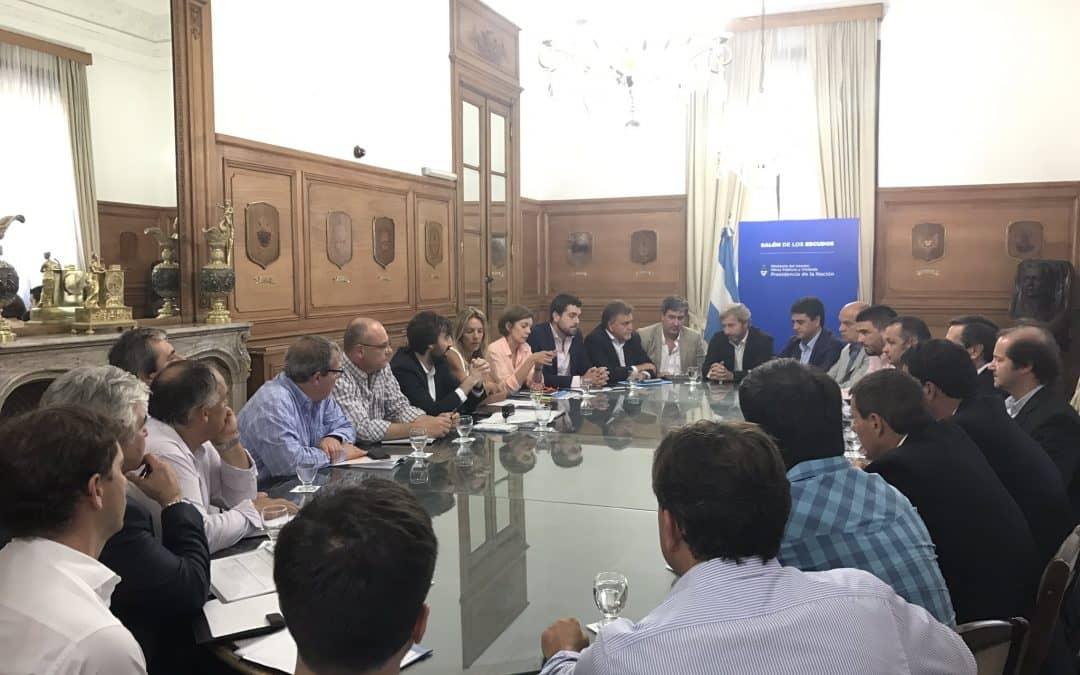 Bulián y Marchabalo, en una reunión con el Ministro Frigerio