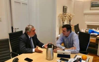 El Intendente presentó proyectos de economía al Senador Bullrich