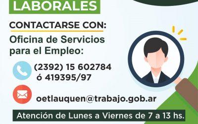 BÚSQUEDAS LABORALES DISPONIBLES EN LA OFICINA DE EMPLEO