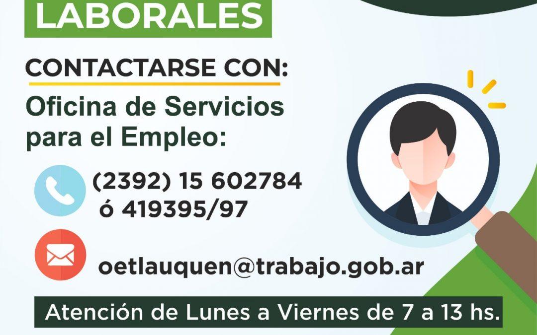 BÚSQUEDAS LABORALES VIGENTES EN LA OFICINA DE SERVICIOS PARA EL EMPLEO