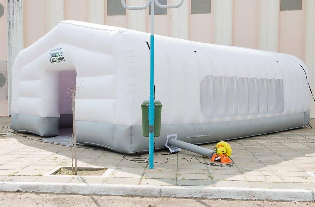 El Municipio adquirió una carpa inflable para usar en casos de emergencia