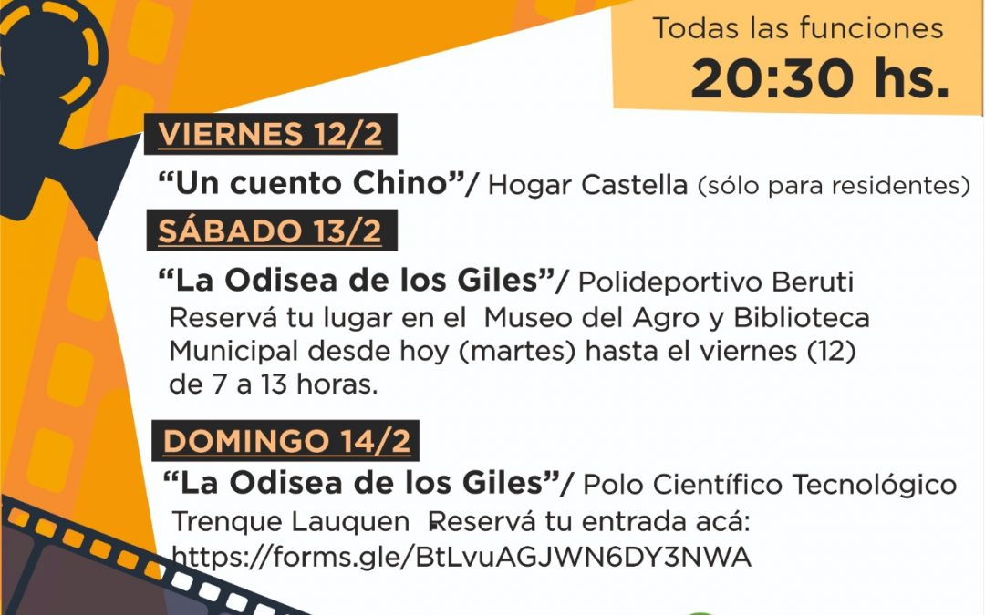 """EL MUNICIPIO LANZA EL CICLO """"CINE VIAJERO"""", CON LA PROYECCIÓN DE """"UN CUENTO CHINO"""" EL PRÓXIMO VIERNES (12) EN EL HOGAR MARCELO CASTELLA"""