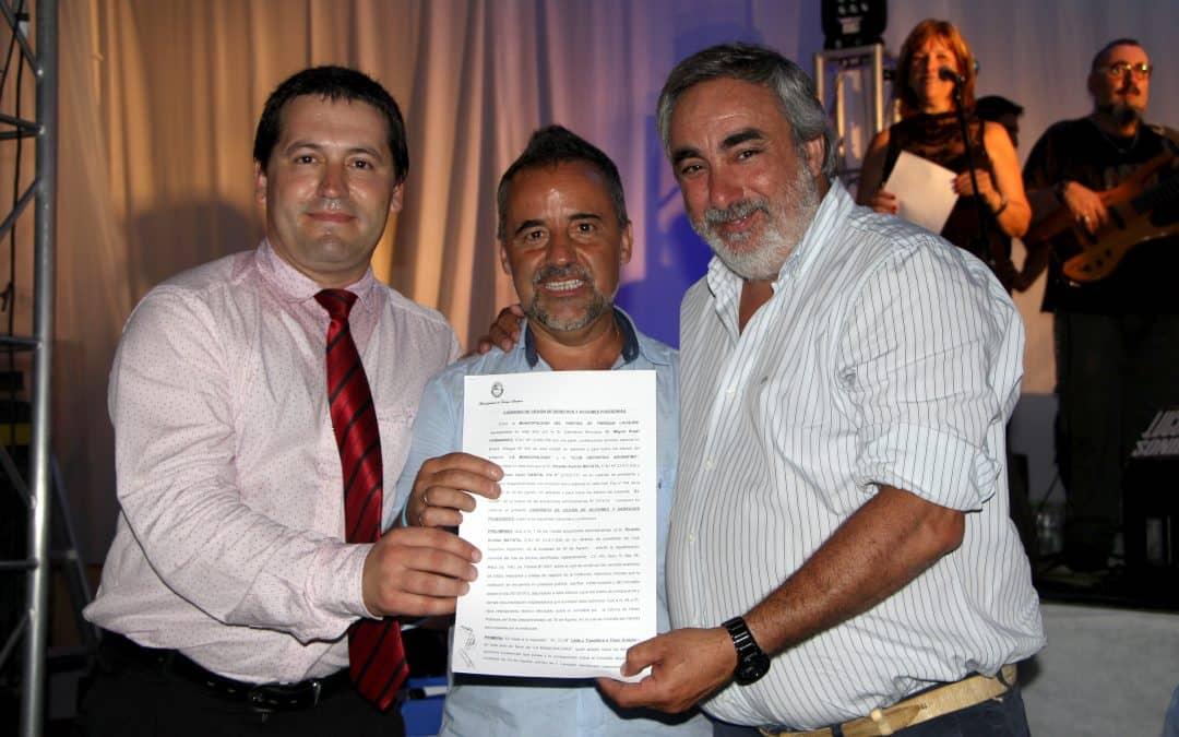 Club Deportivo Argentino: Cena y firma de convenio con el municipio