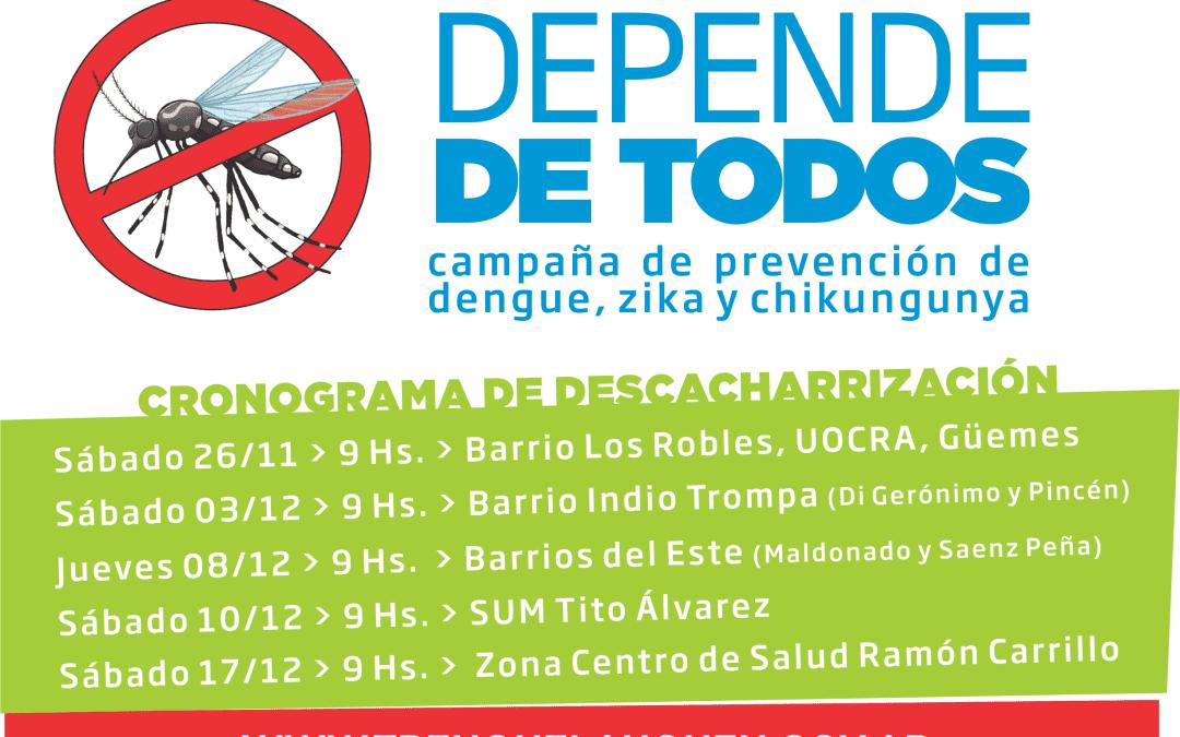 Mañana comienza la campaña de prevención de dengue