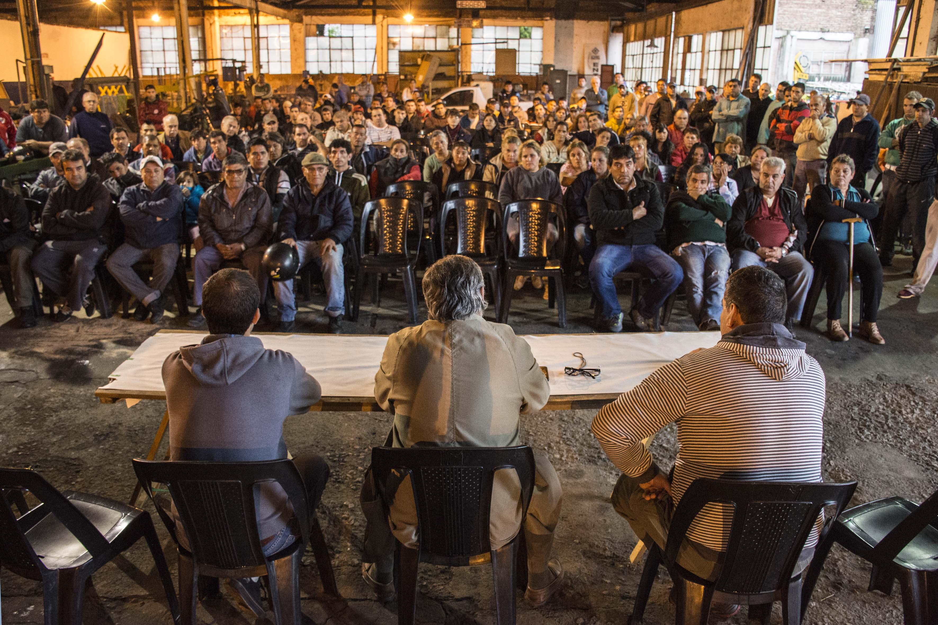 Fernández se reunió con los trabajadores de Higiene Urbana
