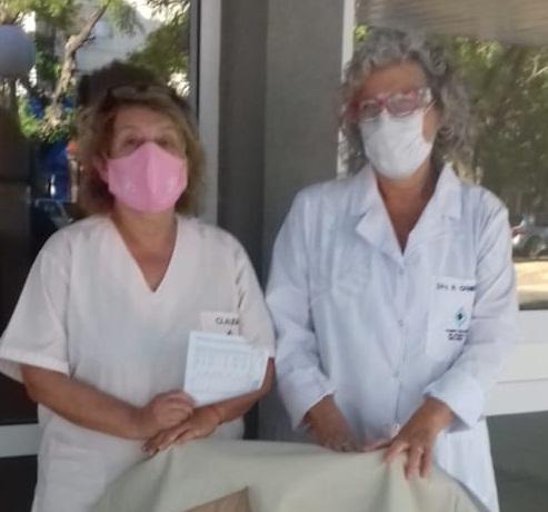 NUEVA DONACIÓN DE DAMAS ROSADAS AL HOSPITAL DR. PEDRO T. ORELLANA: FUNDAS DE CUERINA PARA COLCHONES Y ALMOHADAS