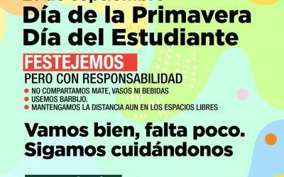 RECOMENDACIONES DEL CONSEJO DE JUVENTUDES PARA LOS FESTEJOS POR EL DÍA DE LA PRIMAVERA Y DEL ESTUDIANTE