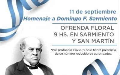 DÍA DEL MAESTRO: EL VIERNES (11) A LAS 9 HS. SE COLOCARÁ UNA OFRENDA FLORAL EN EL MONUMENTO A DOMINGO F. SARMIENTO