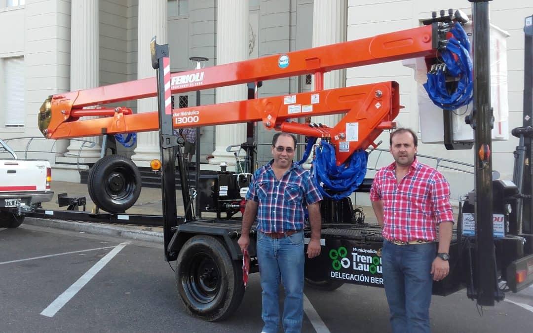 El Municipio compró un elevador hidráulico para Berutti