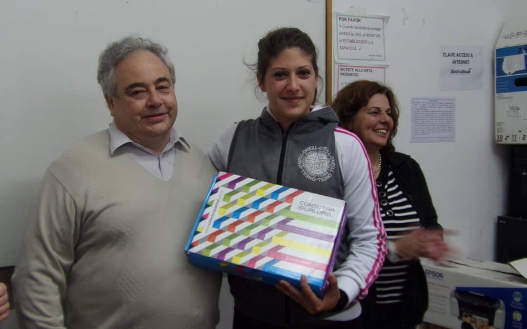 Pérez participó de un acto de entrega de computadoras de la ANSES