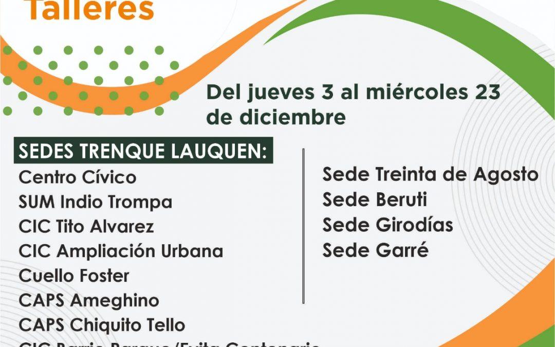 DESDE HOY Y HASTA EL MIÉRCOLES 23 ESTARÁ ABIERTA LA INSCRIPCIÓN PARA LOS CURSOS Y TALLERES 2021 DE LA ESCUELA MUNICIPAL