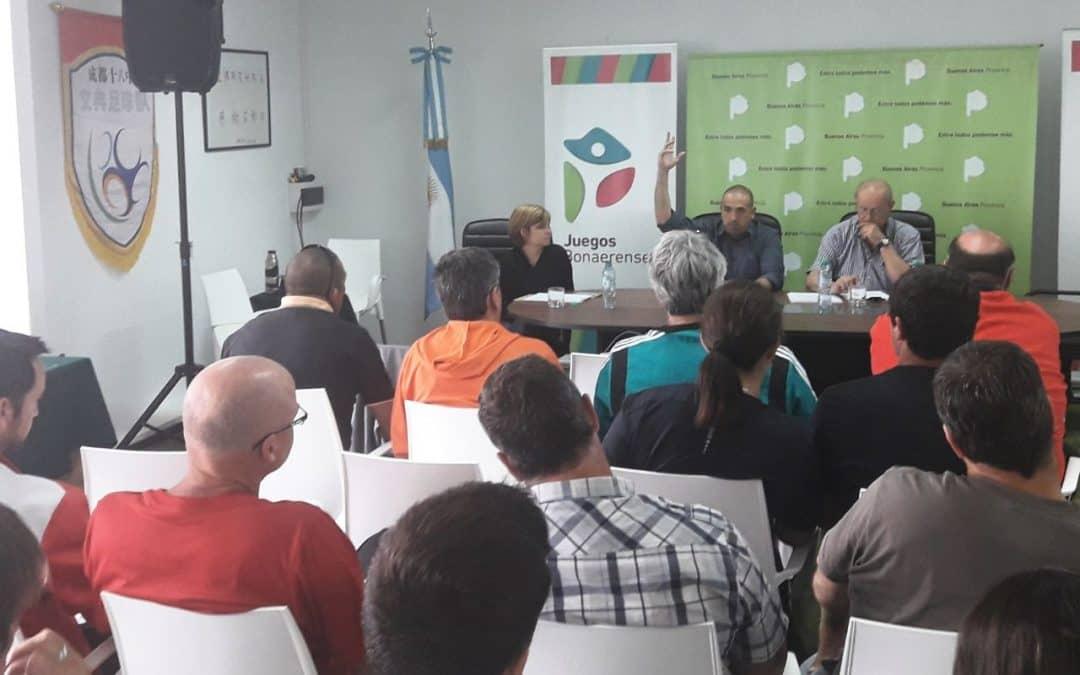 Reunión evaluatoria de los Juegos Bonaerenses 2017