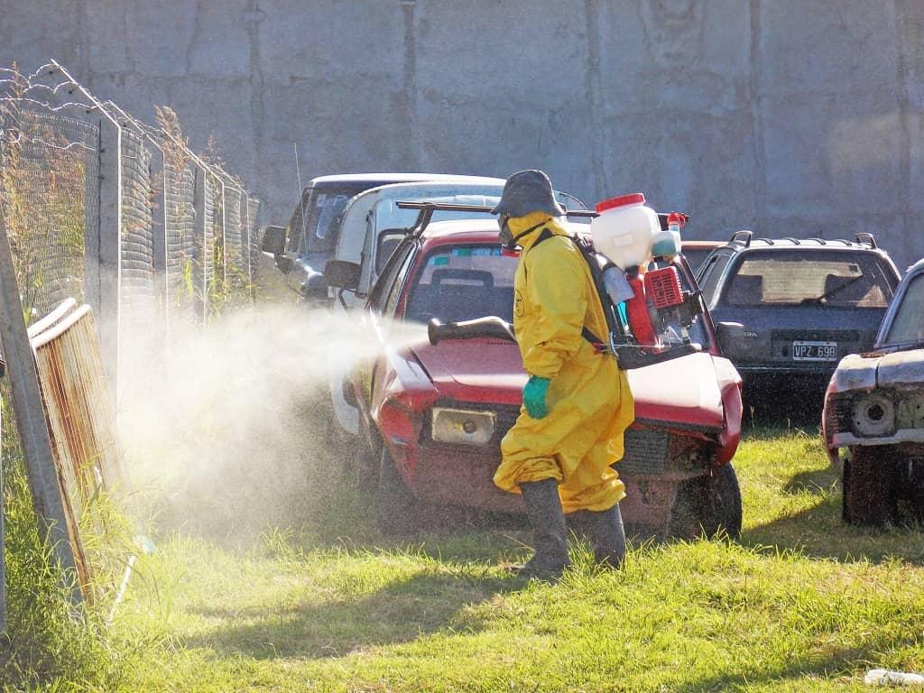 Fumigación en espacios verdes públicos