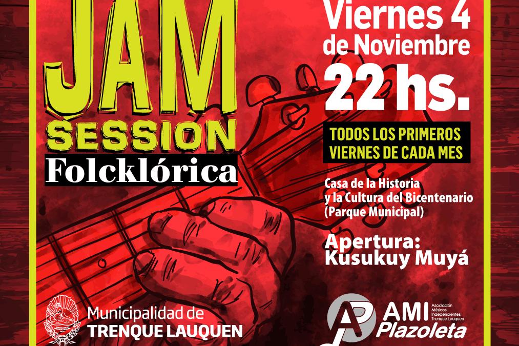 El viernes se realizará una Jam Session Folklórica