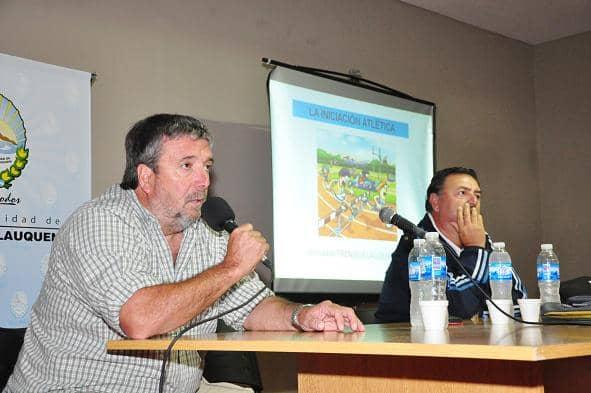 Germán Lauro participó del curso de atletismo junto a Carlos Llera