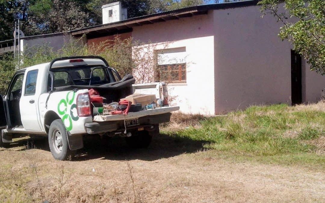 Se repara una vivienda donde funcionará el servicio de enfermería de La Carreta