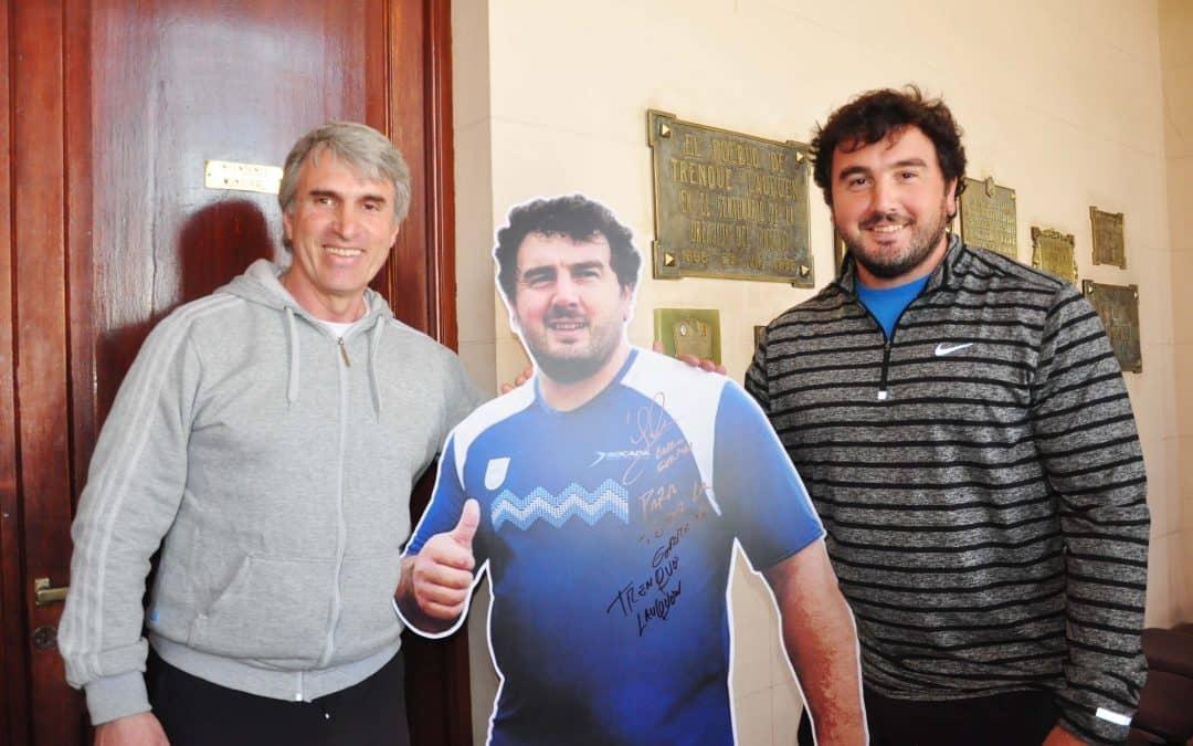 El Director de Deportes recibió a Germán Lauro tras los Juegos Olímpicos