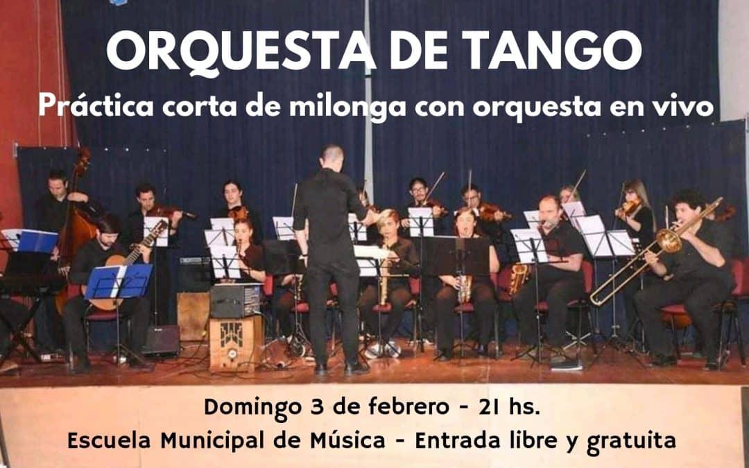 LA PRIMERA PRESENTACIÓN DEL AÑO DE LA ORQUESTA DE TANGO SERA AL AIRE LIBRE Y CON BAILE