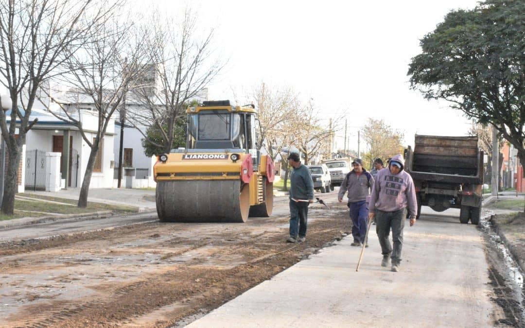 El Municipio inició la pavimentación de la Calle Maldonado