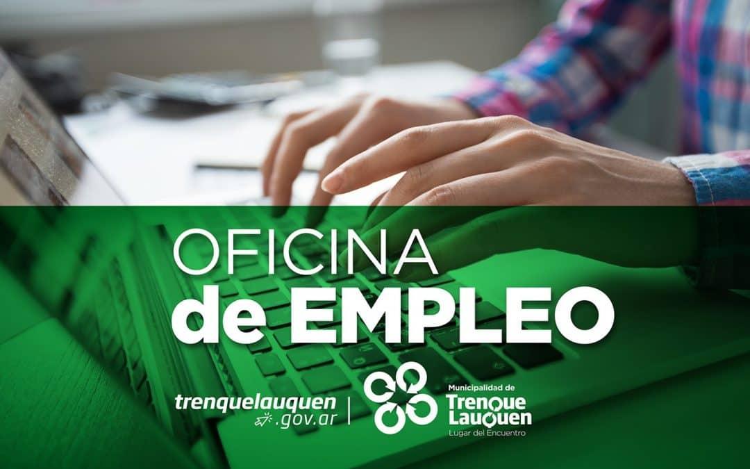 Nuevas búsquedas laborales en la Oficina de Empleo