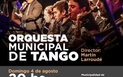 LA ORQUESTA MUNICIPAL DE TANGO Y LA VOZ DE FREDY ANGULO, EL DOMINGO EN EL AUDITORIO DE LA ESCUELA DE MÚSICA