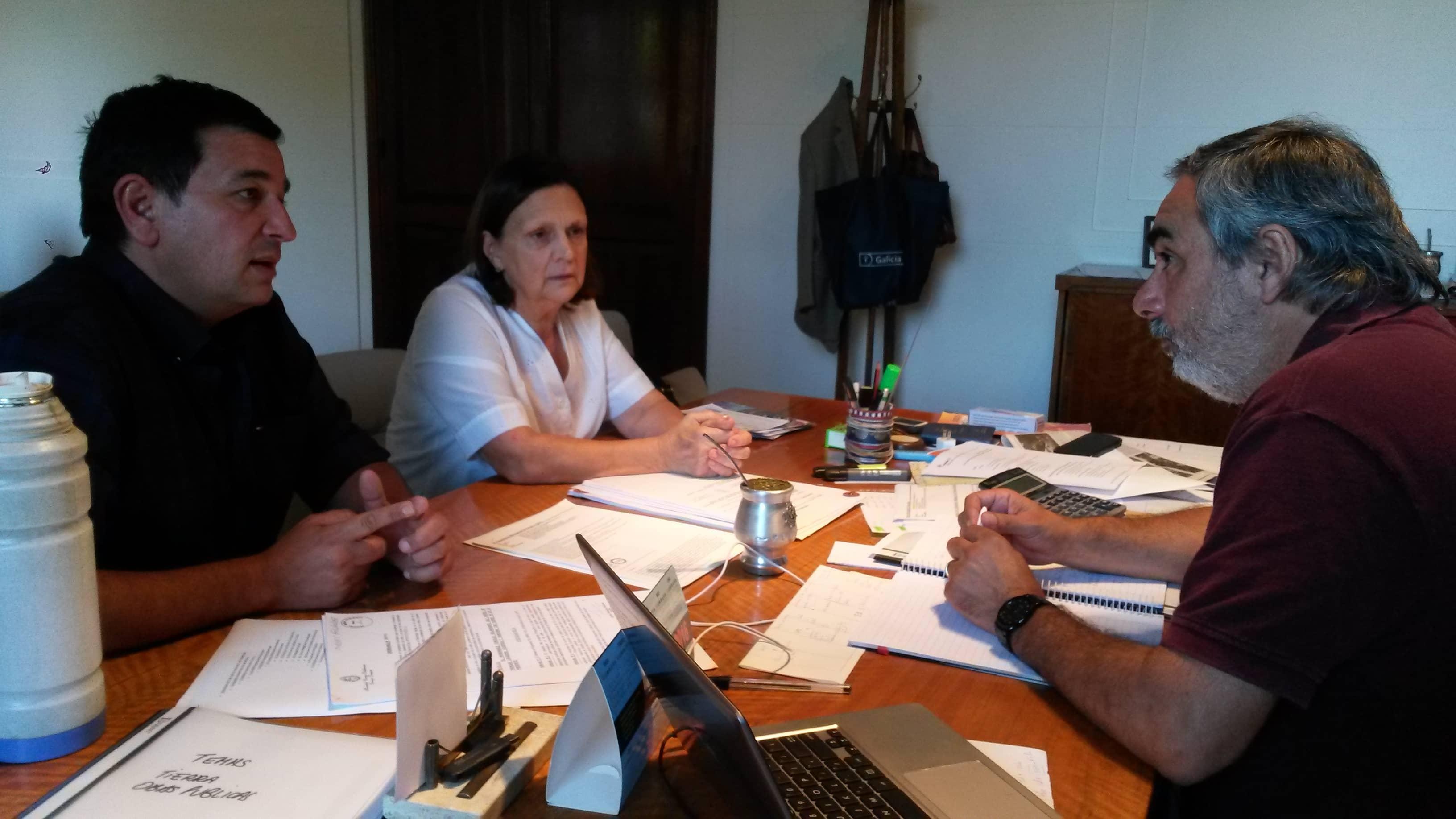 Fernández se reunió ayer con el Intendente Pacheco