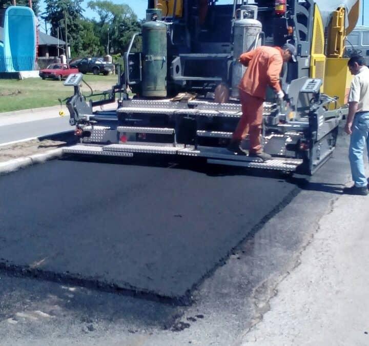 Comenzó la etapa de pavimentación en la obra de remodelación del acceso