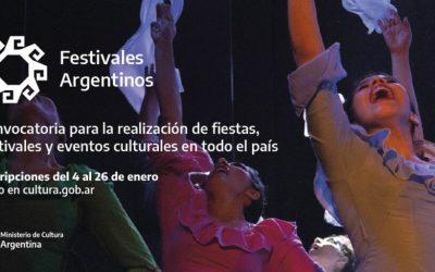 LANZAN EL PROGRAMA FESTIVALES ARGENTINOS QUE BRINDA APOYO ECONÓMICO  PARA LA REALIZACIÓN DE FIESTAS Y EVENTOS CULTURALES