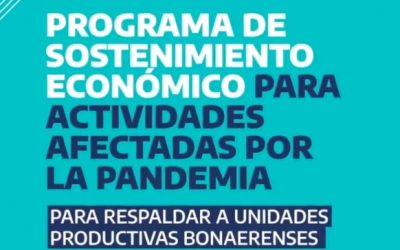 LANZAN PROGRAMA DE SOSTENIMIENTO ECONÓMICO PARA ACTIVIDADES AFECTADAS POR LA PANDEMIA DE COVID-19: UNA AYUDA DE 150.000 PESOS POR ÚNICA VEZ