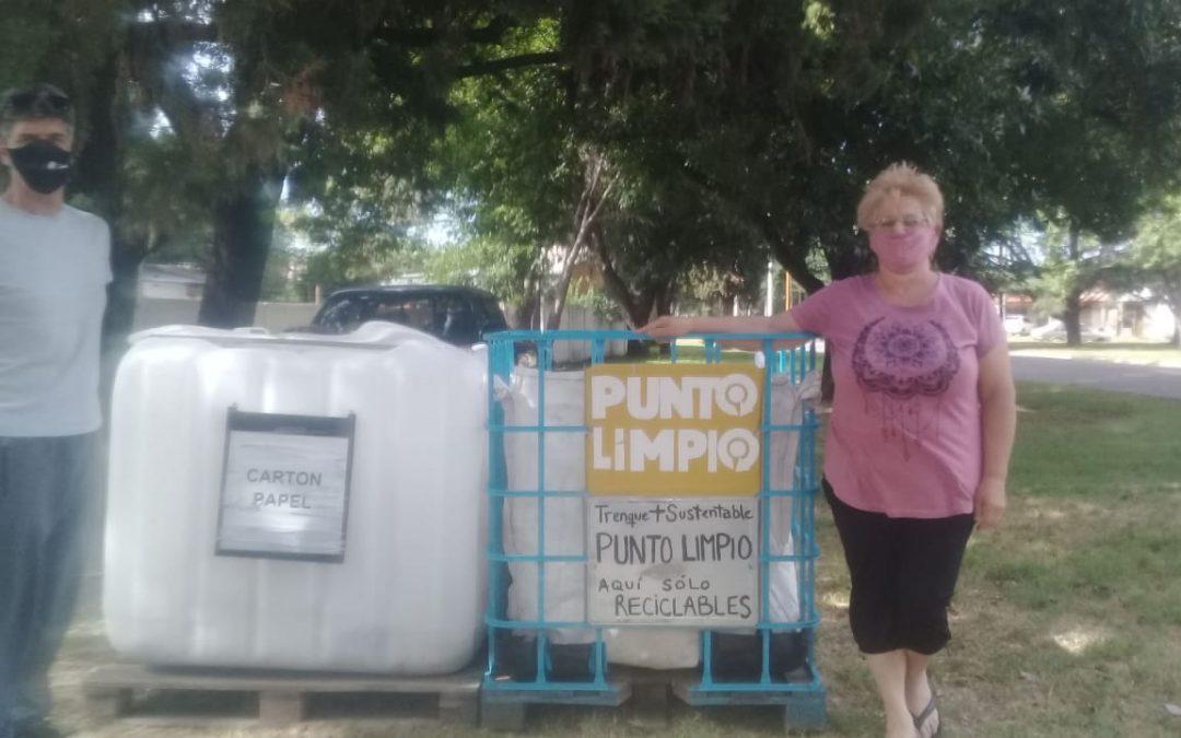 REUBICARON EL PUNTO LIMPIO DE RECEPCIÓN DE RESIDUOS RECICLABLES DE BARRIO PARQUE – EVITA CENTENARIO: AHORA ESTÁ EN CURIE AL 300