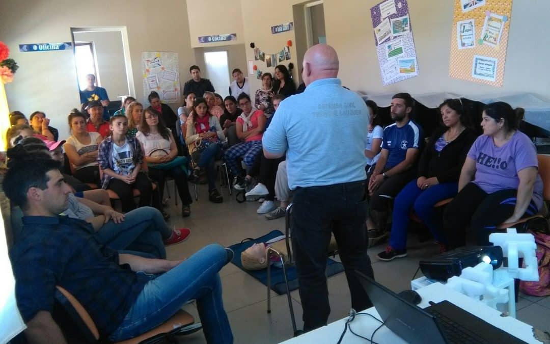 Se realizó una charla de RCP en la Escuela Municipal de Berutti