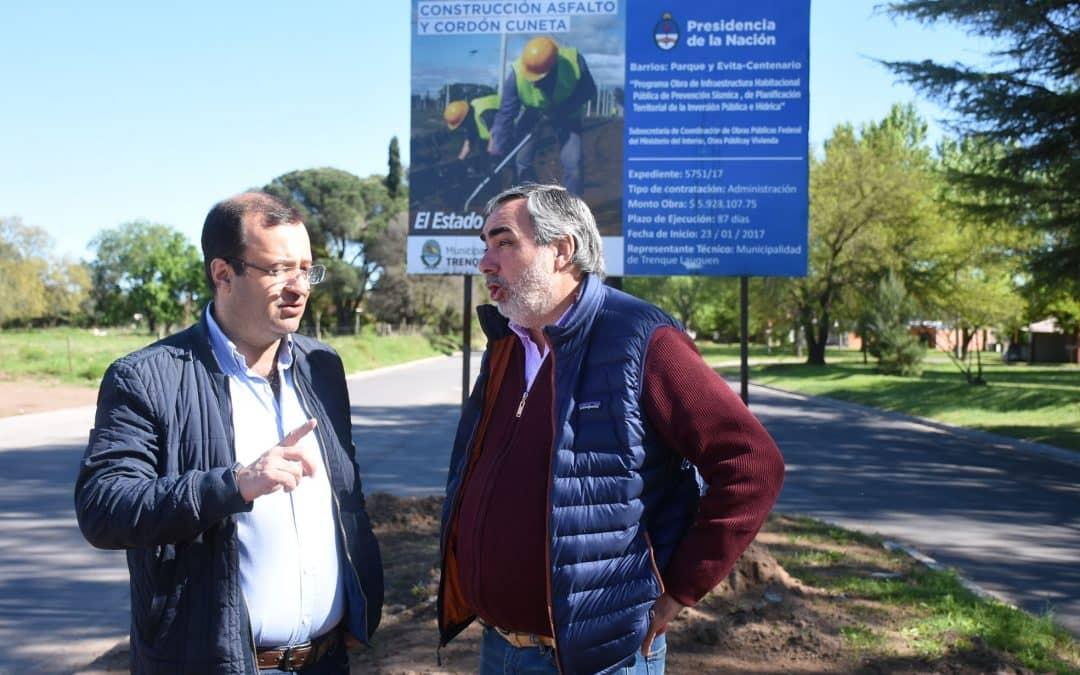 Fernández recorrió obras financiadas por Provincia y Nación, junto al Diputado Daletto